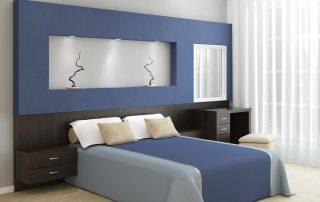 piękne łóżko z materacem